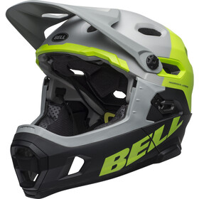 Bell Super DH MIPS Casque, matte/gloss dark gray/bright green/black